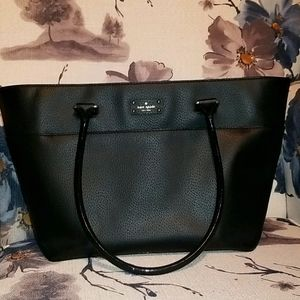 Kate Spade NY black leather handbag